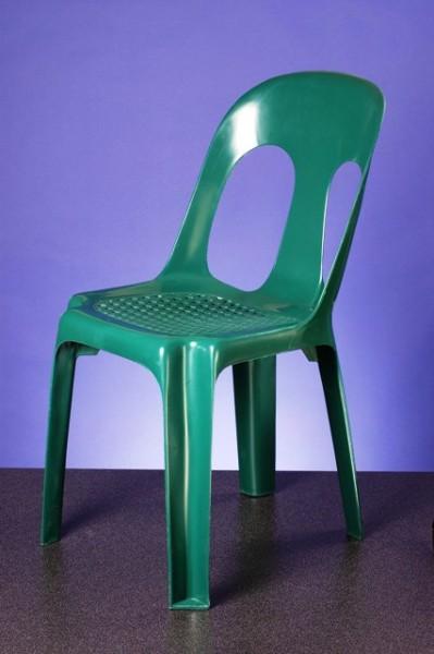Miete Bistrostuhl grün Kunststoff